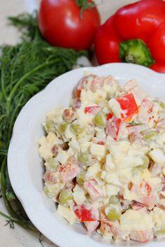 Sałatka z kabanosem Salad Recipes, Potato Salad, Salads, Potatoes, Cooking Recipes, Ethnic Recipes, Kitchens, Lettuce Recipes, Potato