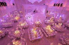 Ivory and Lilac Wedding Reception Floor Plan | VibrantBride.com