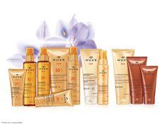 NUXE propose sa première gamme de soins solaires aux Fleurs d'Eau et de Soleil qui assure une protection idéale et un bronzage 100% glamour. #nuxe #nuxesun