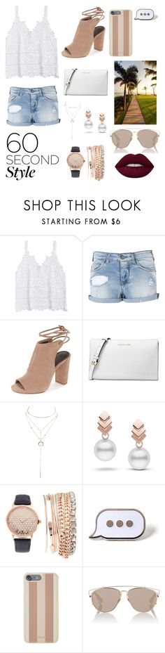 """Outdoor concerts"" by nikkig-204 ❤ liked on Polyvore featuring Armani Jeans, Michael Kors, Charlotte Russe, Escalier, Jessica Carlyle, PINTRILL, Christian Dior, 60secondstyle and outdoorconcerts"