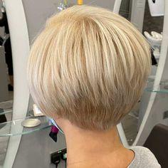 Short Stacked Wedge Haircut, Short Stacked Bob Haircuts, Bob Haircuts For Women, Short Hair With Layers, Cute Bob Haircuts, Stacked Angled Bob, Short Bob Cuts, Choppy Haircuts, Trendy Haircuts