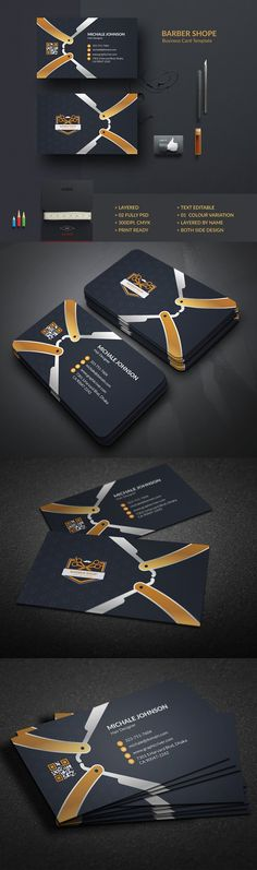 220 best barber business cards images on pinterest barber business barber business card templates this is clean business card template flex by create art cheaphphosting Images