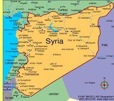 Mapa da Síria