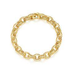 Paloma's Marrakesh link bracelet in 18k gold. | Tiffany & Co.