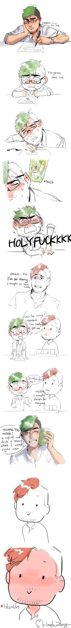 Don't know what this is supposed to be but it's cute. <<<< Fucking cutest Septiplier I've ever encountered Markiplier, Pewdiepie, Septiplier Fanart, Septiplier Comic, Danti, Jack And Mark, Youtube Gamer, Fan Art, Anime