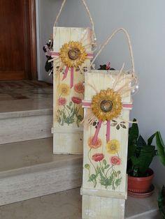 DOPO ... Contenitori in legno decorati a dècoupage e stencil... - mauro grasso -