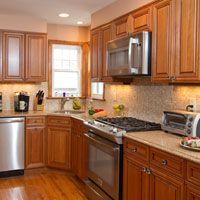 medium brown kitchen cabinets with granite counter tops - Medium Brown Kitchen Cabinets
