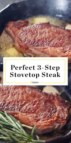 simplest easiest method kitchn stove steak cook how the to on How to Cook Steak on the Stove The Simplest Easiest Method KitchnYou can find How to cook steak and more on our website Cooking Ribeye Steak, Top Sirloin Steak, Beef Ribeye Steak Recipe, Pan Cooked Steak, Cooking Steak On Stove, Cooking The Perfect Steak, Pan Seared Steak, Stove Top Steak, Steak Recipes
