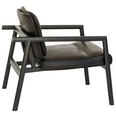 Chris Earl Chair - Ebonized Moresby Armchair American Mid-Century Modern Leather, Oak, Walnut