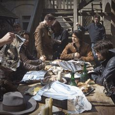 Behind the scenes Musketeers (credit to BBC One Instagram) Tinfoil in the WRONG PLACE!! I demand a do-over! :P