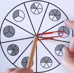 Fraction Spinner Games - Free Fractions Worksheets