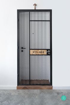 Check out this Eclectic-style HDB and other similar styles on Qanvast. Door Grill, Grill Door Design, Door Gate Design, Front Door Design, House Entrance, Entrance Doors, Home Interior Design, Exterior Design, Home Gym Garage