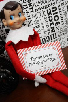 Elf On The Shelf notes from Santa