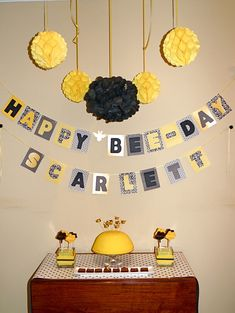 bumble bee party | bumble bee party theme decorations dessert table