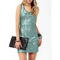 FOREVER 21 Sequined Bodycon Dress ($30) ❤ liked on Polyvore featuring dresses, sequin bodycon dress, body con dress, green cocktail dress, forever 21 dresses and bodycon dress