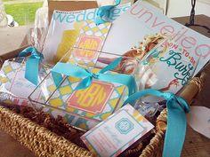 just engaged gift basket