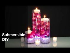 Do-It-Yourself Cheap Wedding Centerpieces Ideas Centerpieces With Orchids And Floating Candles Video Tutorial. Unique Wedding Centerpieces, Floating Candles Wedding, Floating Candle Centerpieces, Diy Centerpieces, Wedding Table Centerpieces, Quinceanera Centerpieces, Centerpiece Flowers, Hanging Candles, Ostern Party