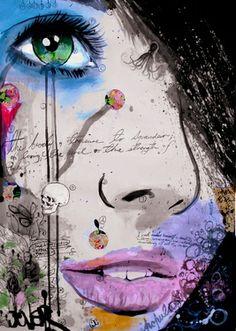 "Saatchi Online Artist Loui Jover; Drawing, ""the strength of psyche "" #art"