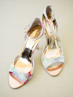 632dc7391f69 Floral Ted Baker stilettos  http   www.stylemepretty.com 2017
