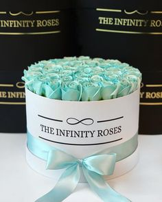 "THE INFINITY ROSES ROMANIA™ on Instagram: ""Tiffany roses➖250RON➖"" Tiffany, Infinity, Roses, Birthday Cake, Box, Instagram, Infinite, Snare Drum, Pink"