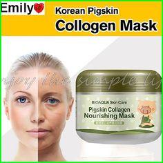 한국어 콜라겐 돼지 피부 얼굴 마스크 100 그램 노화 방지 크림 주름 방지 매직 페이셜 마스크 에이지리스 제품 화장품 bioaqua