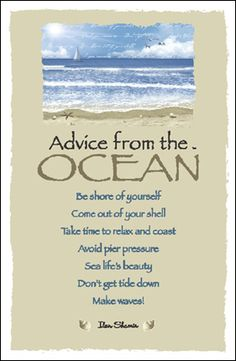 Advice from the ocean
