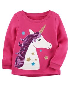 Toddler Girl Unicorn Fleece Sweatshirt | Carters.com