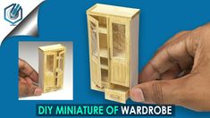 DIY miniature Wardrobe tutorial (made with Watercolor paper! Diy Doll Miniatures, Dollhouse Miniature Tutorials, Diy Dollhouse, Miniature Dolls, Miniature Furniture, Doll Furniture, Dollhouse Furniture, Furniture Nyc, Furniture Websites