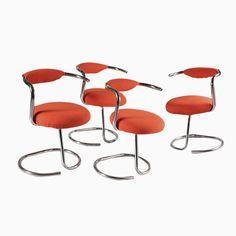 Orange Stühle von Giotto Stoppino, 1970er, 4er Set Jetzt bestellen unter: https://moebel.ladendirekt.de/kueche-und-esszimmer/stuehle-und-hocker/esszimmerstuehle/?uid=64280426-bcd8-5493-8e4e-493752dd1ccf&utm_source=pinterest&utm_medium=pin&utm_campaign=boards #kueche #sets #esszimmerstuehle #esszimmer #hocker #stuehle