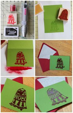 HEAT EMBOSSING - MAKING HOLIDAY CARDS