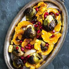 Maple Glazed Roasted Delicata Squash and Brussels Sprouts Recipe