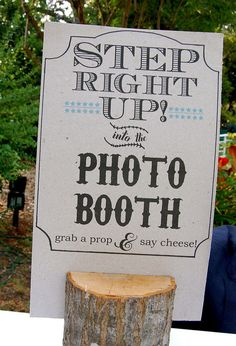 Wedding photo booth, what a fun idea!