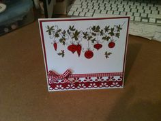 Christmas Card using Lili Of The Valley Stamp