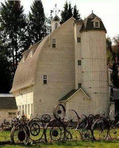 Iron wheels....great fence!