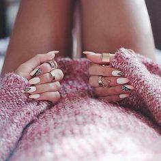 #long #nails #white