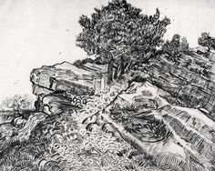 Montmajour, 1888, Vincent van Gogh Size: 49x60 cm Medium: ink on paper
