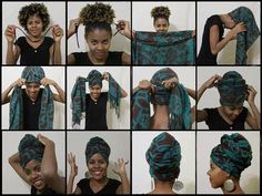 Irish crochet &: Как красиво завязать платок на голову (тюрбан-чалм...