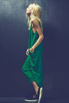 great green jumpsuit
