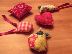 Cat toys from scraps for animal shelters.