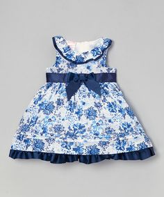 This Navy Floral Yoke Dress - Infant & Toddler is perfect! #zulilyfinds