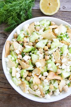 Cucumber, Chickpea, and Pita Salad Recipe