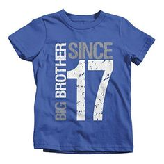 b7a67e591 Boy's Big Brother Since 2017 T-Shirt Promoted To Distressed T-Shirt. Big  Brother TshirtPersonalized ...