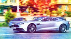 Engine Oil Painting: 2014 Aston Martin Vanquish