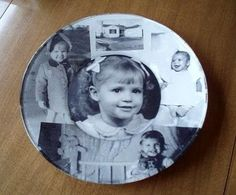 How to Decoupage a Glass Plate with photos... cute gift idea <3