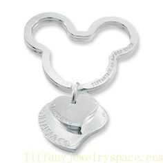 Tiffany And Co Outlet Key Chain Double Heart Mickey Tag - Click Image to Close