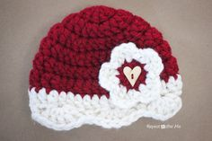 Crochet Valentine Hat Pattern