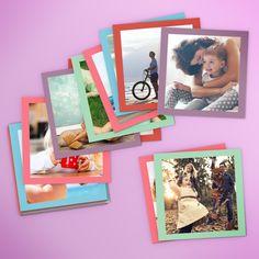 Las fotos mini de antaño con un toque colorido. Ideal para regalar y decorar. Elige Multicolor.