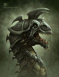Battle Dragon by *kerembeyit