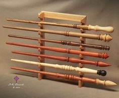 Wood Wand Wall Display Stand for 7 Wands Pacific NW Hemlock Wizard Metaphysical