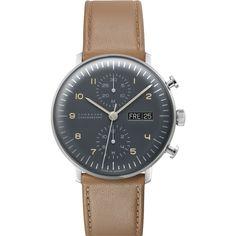 Junghans Max Bill Chronoscope Watch Calfskin 027/4501 | Sportique